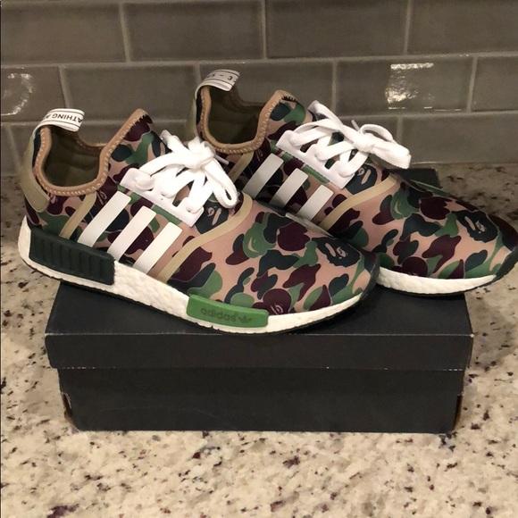 BAPE x NMD RARE adidas shoes size 11 NWT